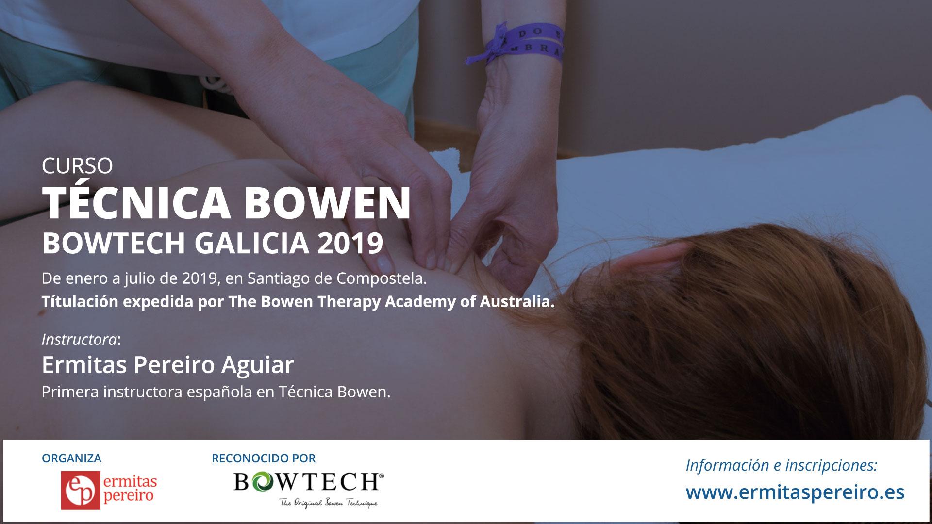 Curso Técnica Bowen 2019 - Santiago de Compostela - Ermitas Pereiro Instructora Bowen